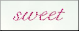 Sweet Self-Adhesive Rhinestone word - Pink
