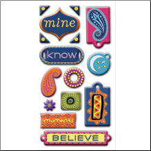 Bohemian Chic Puffy Stickers