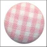 Big Fabric Brads - Baby Pink Gingham