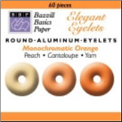 "60 Round 1/8"" Eyelets - Bazzill Orange"