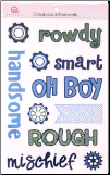 Boy Chipboard Element Stickers