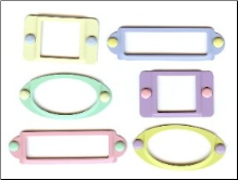 Frames with brads - Pastel