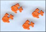 Goldfish Brads - Orange (50)