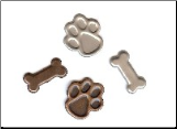 Dog Paw & Bone Brads - Antique (25)