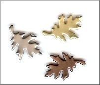 Autumn Oak Leaf Brads - Antique (25)