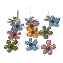 Stitched Fall Flowers Mini Brads
