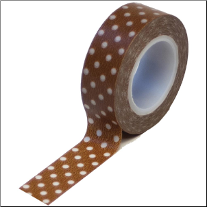 Trendy Tape - Polka Dots Brown