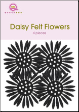 Felt Flowers - Black Daisy