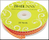 Double Dot Ribbon - Orange Citrus