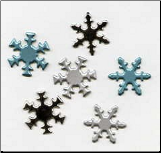 Snowflake Brads - Pearl Assortment (50)