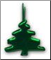 Squiggle Tree brads - metallic green