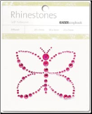 Butterfly Self-Adhesive Rhinestones - Hot Pink