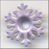 "Fancy Snowflake 3/16"" Eyelets -Frosty Purple"