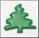 Squiggle Tree brads - green