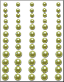 Bling Pearls - Lime Green