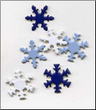 Snowflake Brads - Assortment (50)
