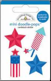 Stars & Stripes Firecracker Mini Doodle-Pop 3-D Stickers