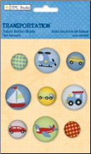 Transportation Fabric Buttons