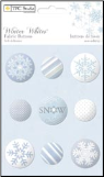 Winter Whites Self-Adhesive Buttons