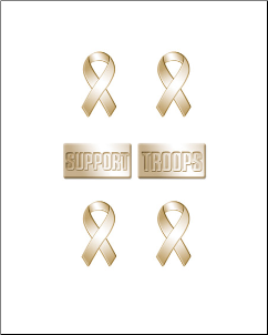 Yellow Ribbon Brads