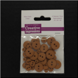 Resin Button Assortment (45 pcs) - Caramel