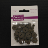 Resin Button Assortment (45 pcs) - Dark Umber