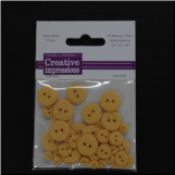 Resin Button Assortment (45 pcs) - Marigold