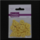 Resin Button Assortment (45 pcs) - Yellow
