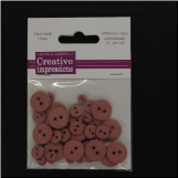Resin Button Assortment (45 pcs) - Tea Rose