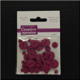 Resin Button Assortment (45 pcs) - Cranberry