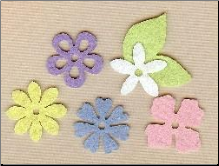 Felt Blossoms & Leaves - Small Pastel