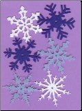 Winter Felt Snowflakes - Large