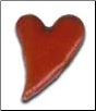 Whimsical Heart Brads - Red