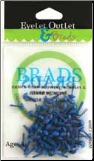Mini Round Brads (70) - Dark Blue