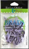 Medium Round Brads (40) - Lavender