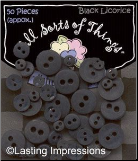 Buttons - Black Licorice