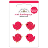 Christmas Mini Doodle-Pops 3-D Stickers - Festive Flock