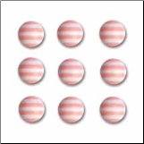 Candy Striper Round Embellishments - Cotton Candy