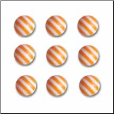 Candy Striper Round Embellishments - Orange Crush