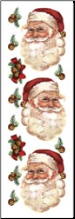 Santa Faces & Jingle Bells Rub-ons