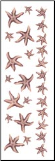 Starfish Borders Rub-ons