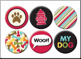 Dog Flair Self-Adhesive Tin Badges