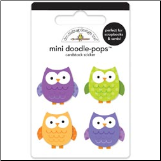 Mini Doodle-Pops 3-D Stickers - Hooties