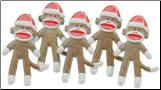Christmas Sock Monkey Brads