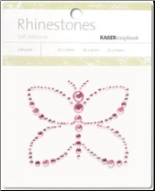 Butterfly Self-Adhesive Rhinestones - Light Pink