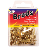 Round Brads With Long Legs - Gold (50)