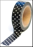 Trendy Tape - Polka Dots Black