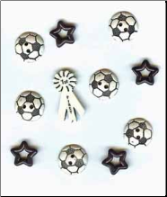 Soccer Flatback Buttons - First Place