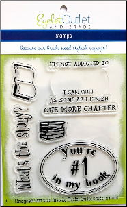 Book Clear Stamp Set