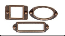 Frames with brads - Antique Copper